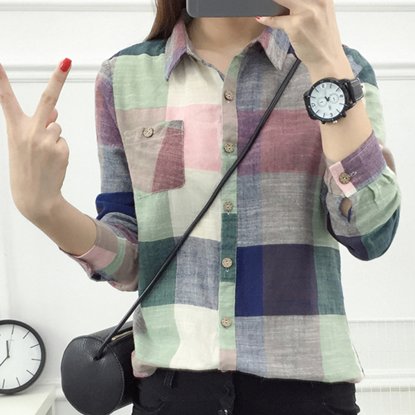 Light Multicolor Checks Printed Formal Shirt