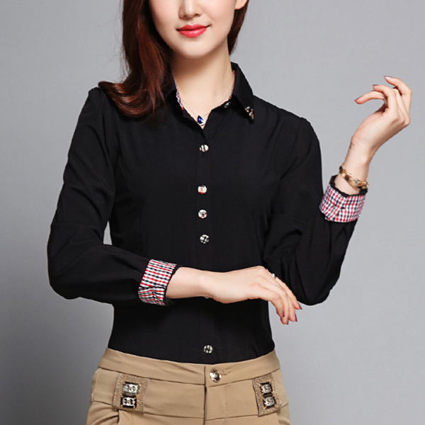 Check Prints Contrast Full Sleeves Casual Shirt - Black