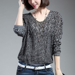Thin Summer Wear Fabric Loose T-Shirt - Dark Grey
