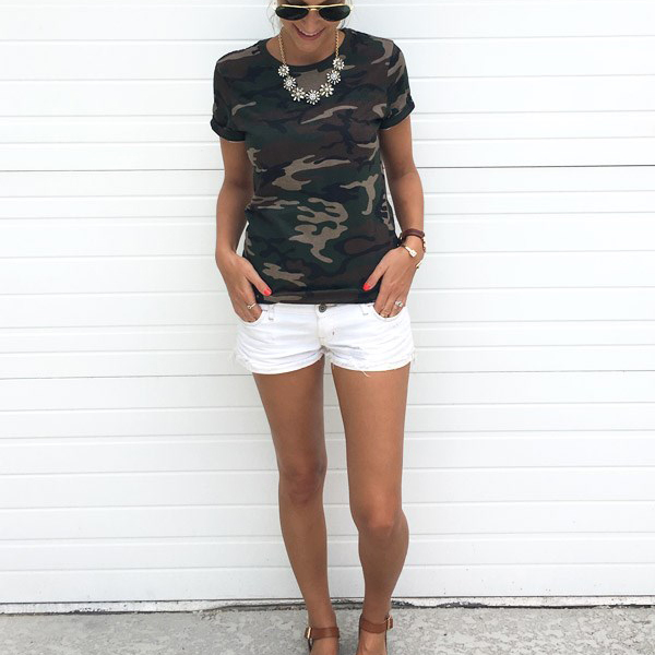 Army Camouflage Round Neck T-Shirt