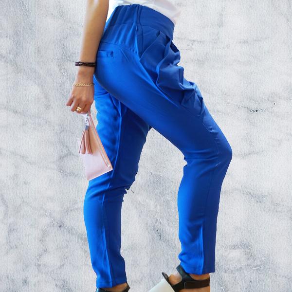 Blue Trouser Pants High Waist Sexy Pants For Women