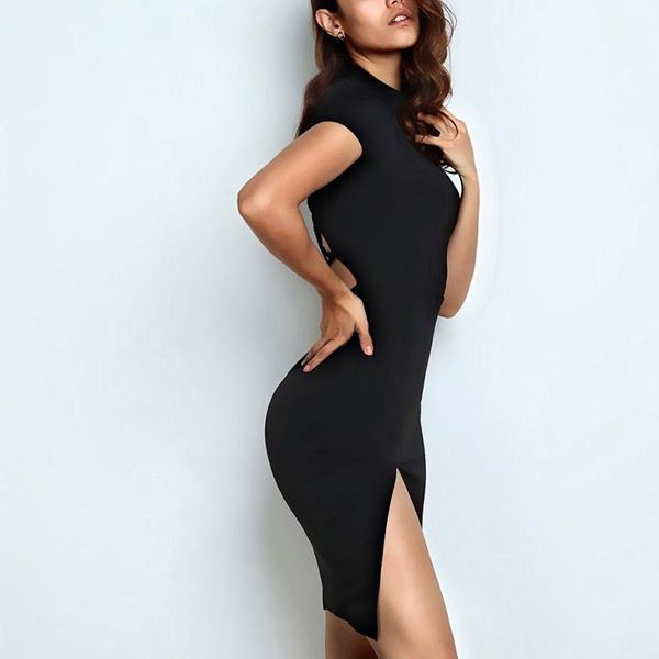 Strapped Backless Bodycon Party Mini Dress