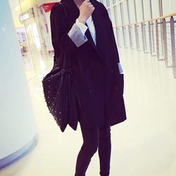 Solid Pleated Formal Outwear Summer Coat
