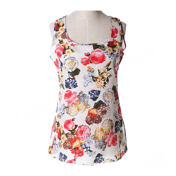 European Style Women Blouses Floral Retro Printed Boho Top 4