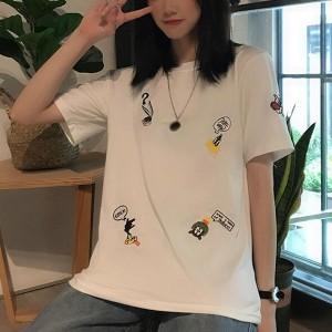 Cartoon Prints Casual Wear Summer Wear Women T-Shirt