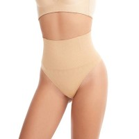 Body Slimming Mid Waist Hip Pants Ladies Underwear - Khaki