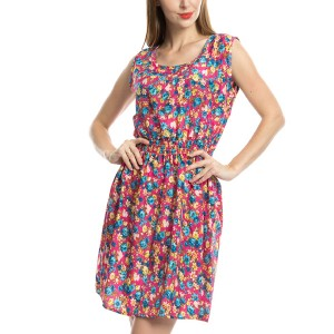 Different Design Retro Vintage Floral Printed Mini Dress Style 18
