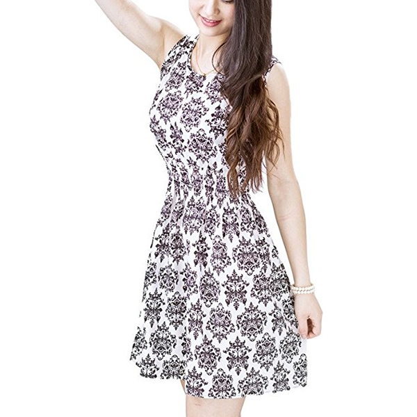 Different Design Retro Vintage Floral Printed Mini Dress Style 22
