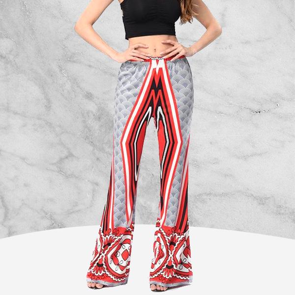 Stylish Boho Grey Contrast New Beach Pants For Women