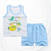 Two Pieces Sando With Short Pants Kids Suit - Cartoon