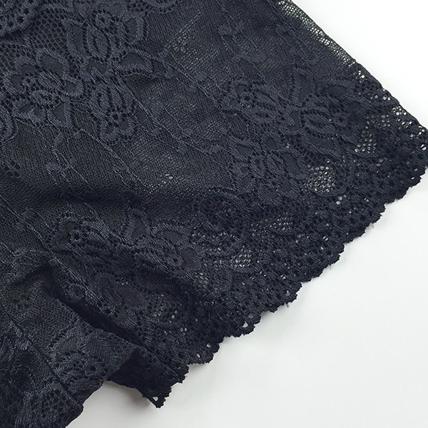 Stretchable Summer Lace Double Layer Underwear - Black