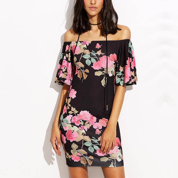 New Boho Bodycon Floral Dress For Women