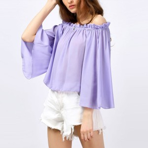 New Arrival Elegant Fold Vogue Polyester Fashion Top