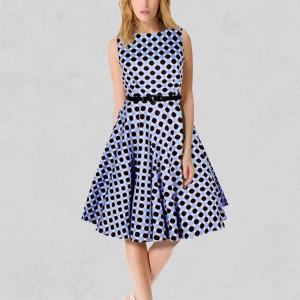 Flare Dress Vintage Clothing Retro Dress Neck Collar female Dress