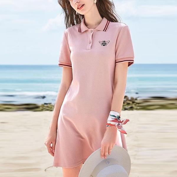 Polo Collar Formal T-Shirt Dress