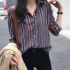Striped Long Sleeves Printed Formal Shirt - Grey