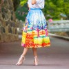 Cocktail Hepburn Retro Printed Thin Skirt Free Size