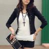 Outerwear Coats Shirt O-Neck Full Fashion Black