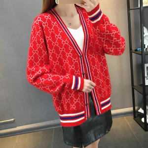 Designers Printed Outwear Button Up Jacket - Red