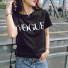 Famous Printed Casual Top - Black