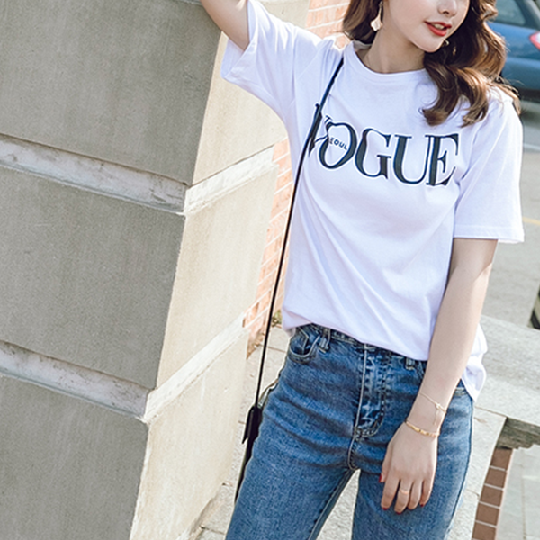 Famous Printed Casual Top - White