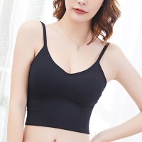 Strap Shoulder Inner Wear Casual Summer Inner Bra - Black
