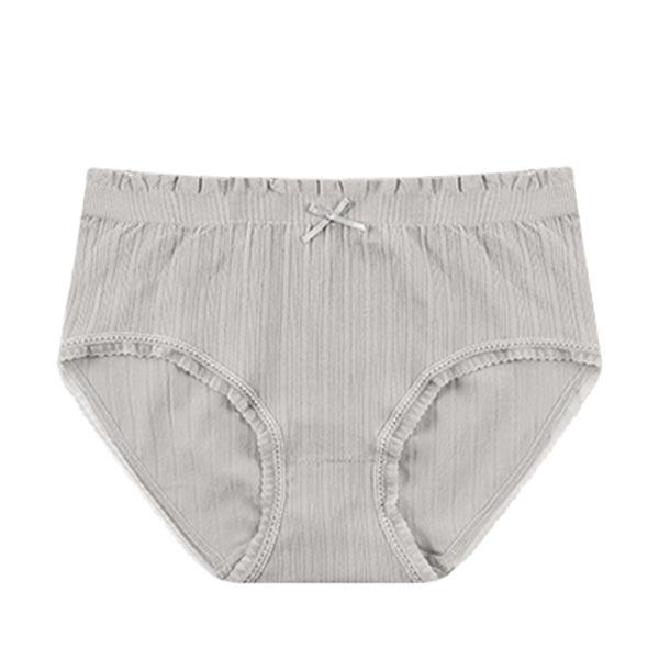 Seamless High Waist Triangle Anti Leakage Underwears - Gray