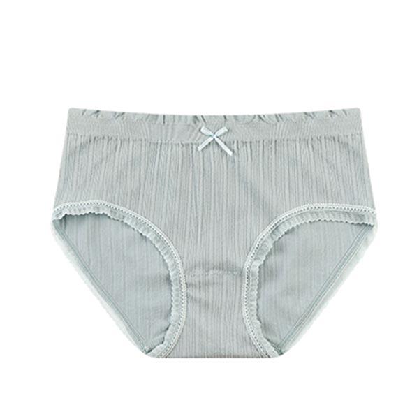 Seamless High Waist Triangle Anti Leakage Underwears - Blue