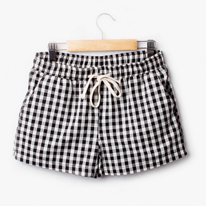 Check Prints String Waist Shorts