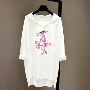 Loose Bat T-shirt Long-sleeved Women Hoodies - White