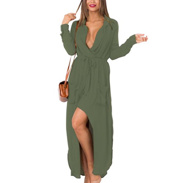 Women Loose Dress Full Sleeve Dresses Chiffon Material