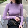 Cutout Sleeves Full Sleeves Stand Neck Top - Purple
