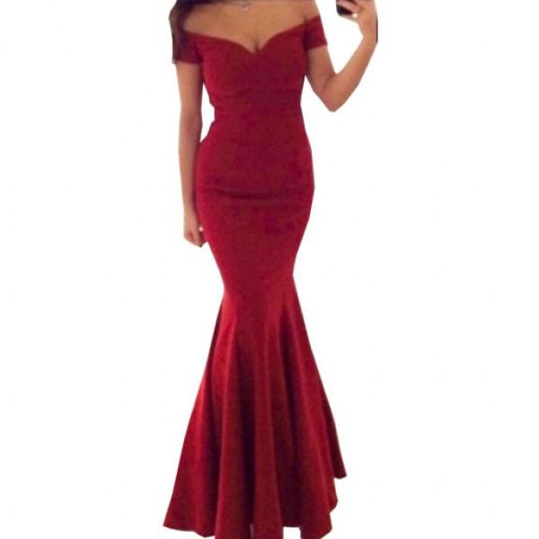 Evening Fashion Red Carpet Sexy Prom Dress