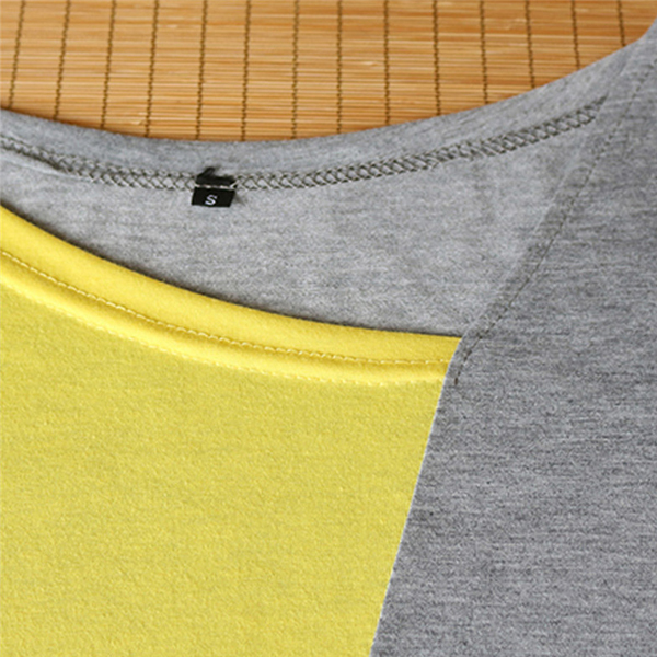 Multicolor Patched Contrast Casual Top - Yellow