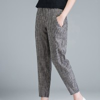 Duo Pocket Stripes Print Narrow Bottom Trousers