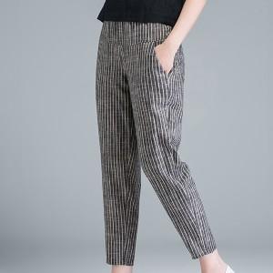 Duo Pocket Stripes Print Narrow Bottom Trousers