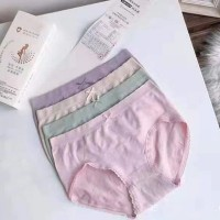 Solid Color Four Pieces Casual Underwear - Multicolor