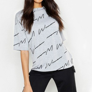 Summer Special Printed Half Sleeves T-Shirt - Grey