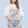 Lace Top Outside Cover Women Fashion Top Ultra Thin