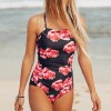 Backless Floral Print Beach Swimwear