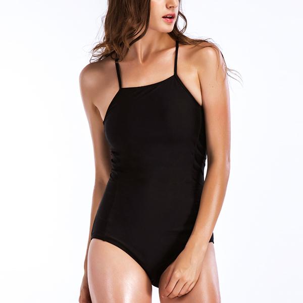 Backless Summer Black Beach Swimwear