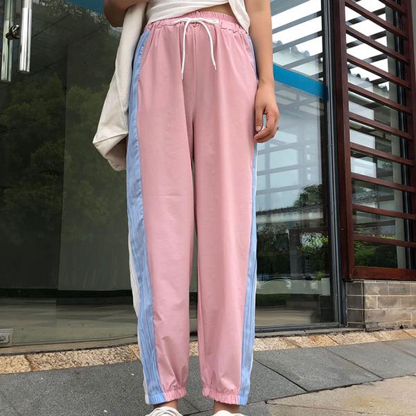 Sports Wear Narrow Bottom Trousers - Pink