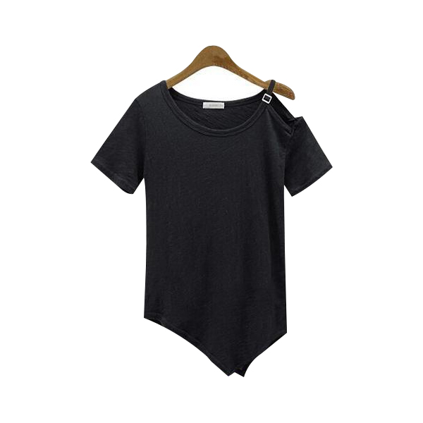 Summer Trendy Short-sleeved Loose Sexy Strapless T-shirt