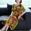 Geometric Printed Long Length Casual Dress