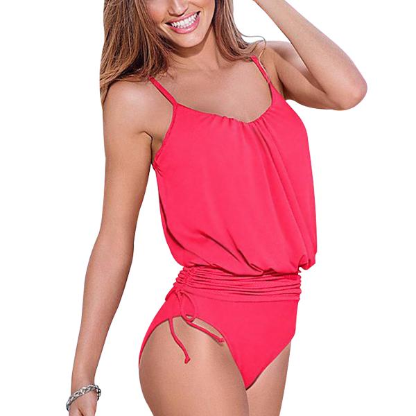 Women One-Piece Tankini Bikini Sexy Suit Red Swimwear