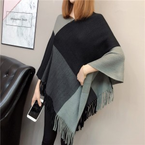Winter Fashion Batwing Sleeves Females Party Sweaters - Grey