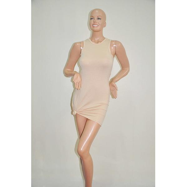 Causal Bandage Mini Party Dress Sexy Women Clubwear Light Khaki