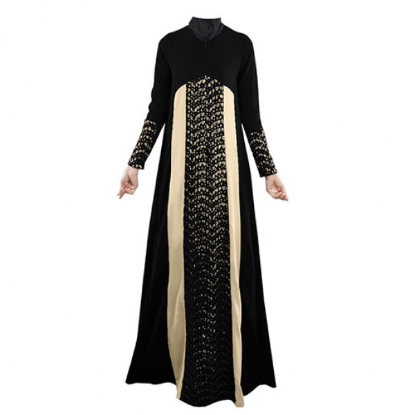 Excellent D3214 Dark Sapphire Bluma Traditional Middle Eastern Dress For Women