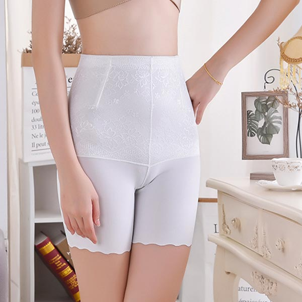 High Waist Abdomen Hips Postpartum Ladies Underwear - White