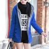 Fancy Casual Wear Long Sleeves Hooded Jackets - Blue